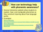 how can technology help with phonemic awareness