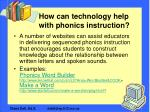 how can technology help with phonics instruction