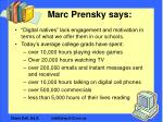 marc prensky says