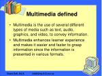 multimedia defined