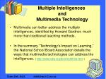 multiple intelligences and multimedia technology