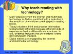 why teach reading with technology