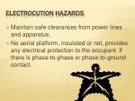 electrocution hazards