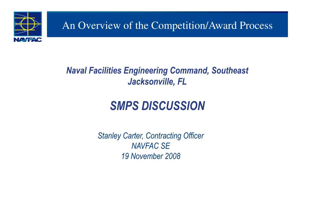 an overview of the competition award process l.