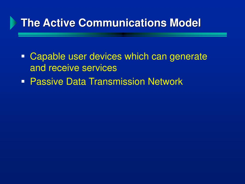The Active Communications Model