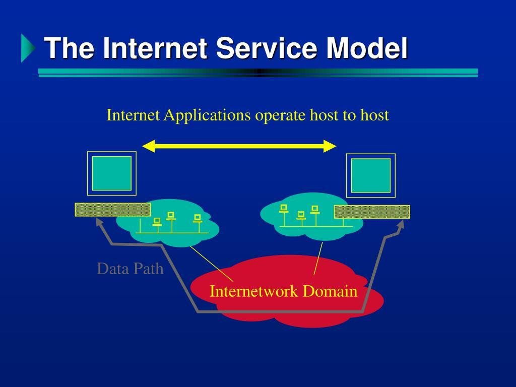 The Internet Service Model