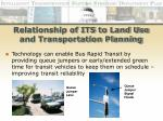 relationship of its to land use and transportation planning25