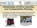 relationship of its to land use and transportation planning26