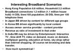 interesting broadband scenarios