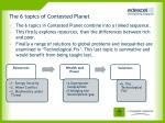 the 6 topics of contested planet