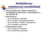 antibi ticos resistencia sensibilidad