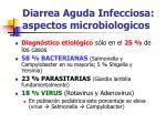 diarrea aguda infecciosa aspectos microbiologicos
