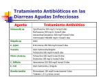 tratamiento antibi ticos en las diarreas agudas infecciosas