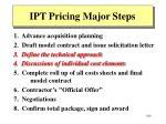 ipt pricing major steps