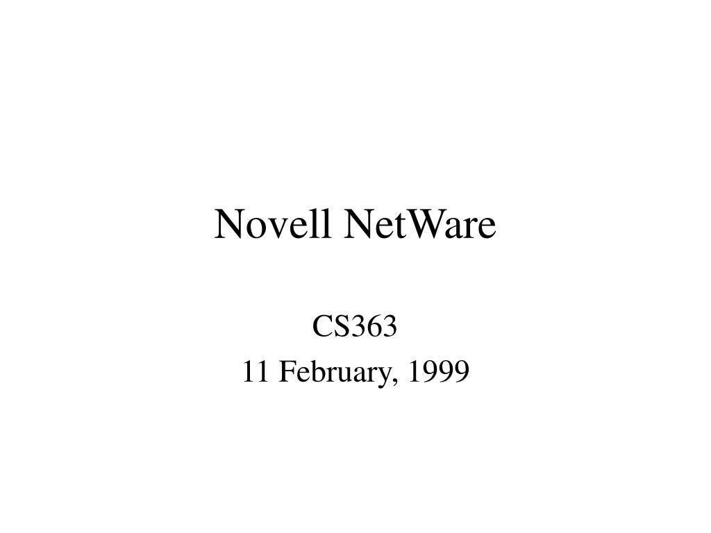 novell netware l.