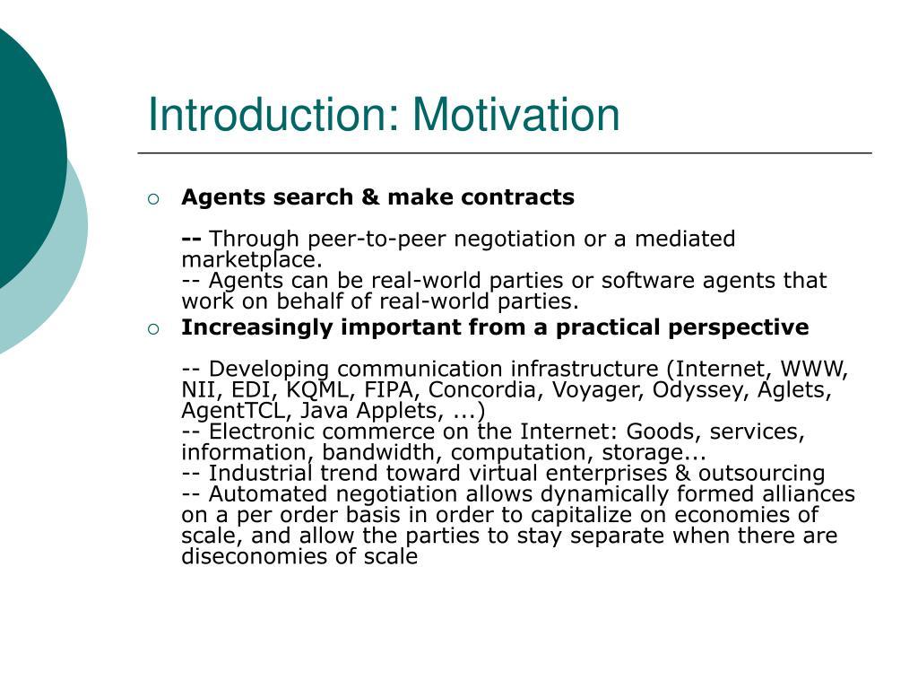 Introduction: Motivation