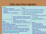 use your four square