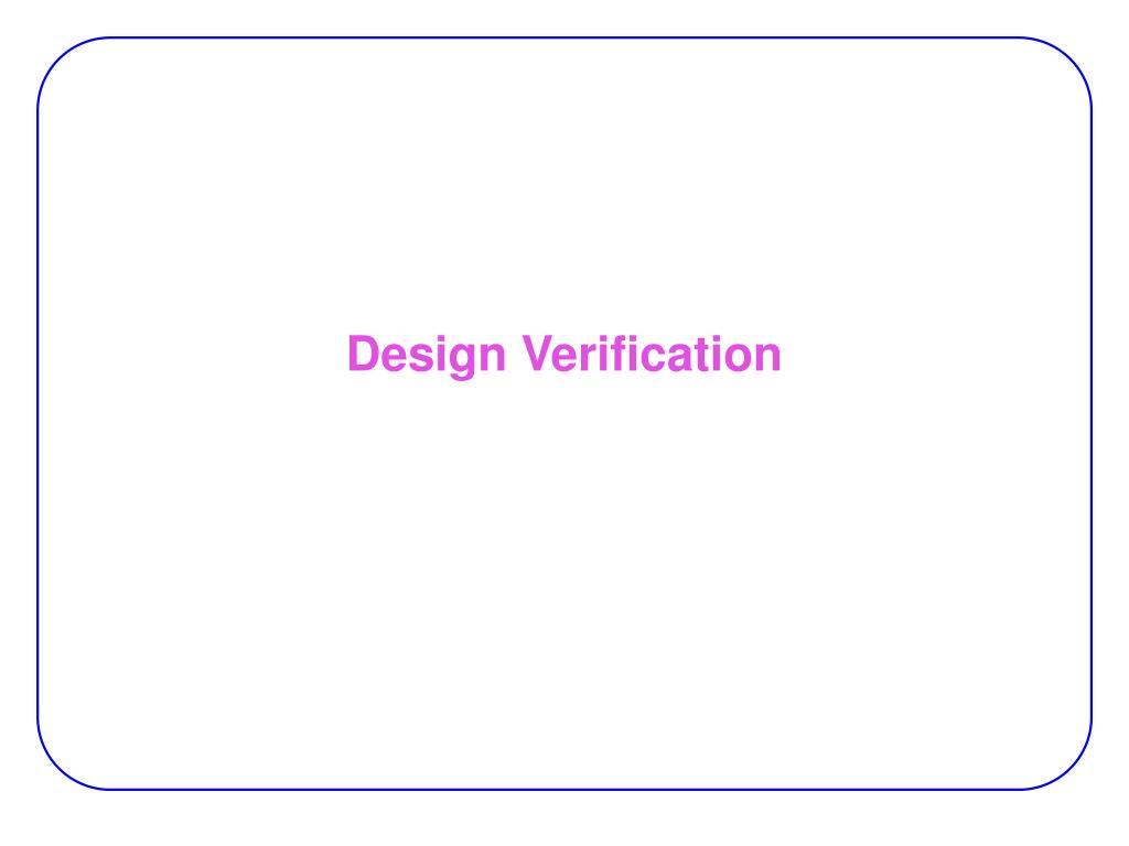 design verification l.
