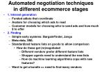 automated negotiation techniques in different ecommerce stages