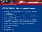 c onnections ii procurement process