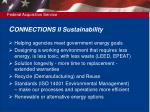 c onnections ii sustainability
