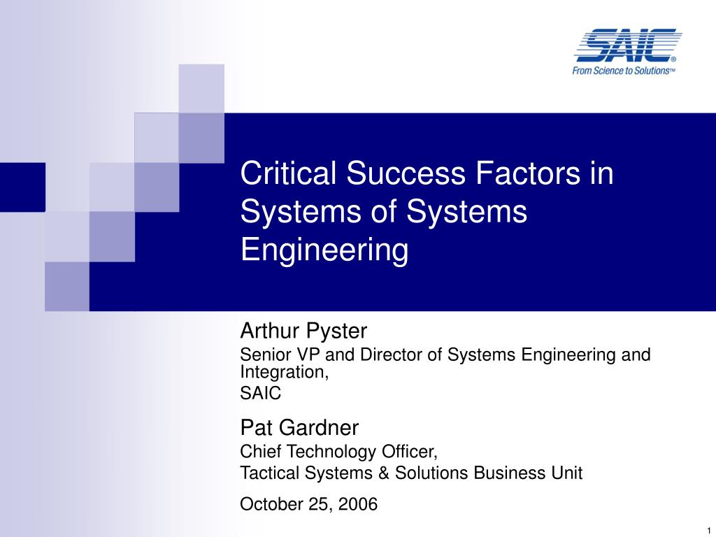 critical success factors in systems of systems engineering l.