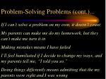 problem solving problems cont