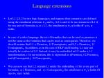 language extensions