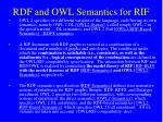 rdf and owl semantics for rif