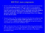 rif fld main components