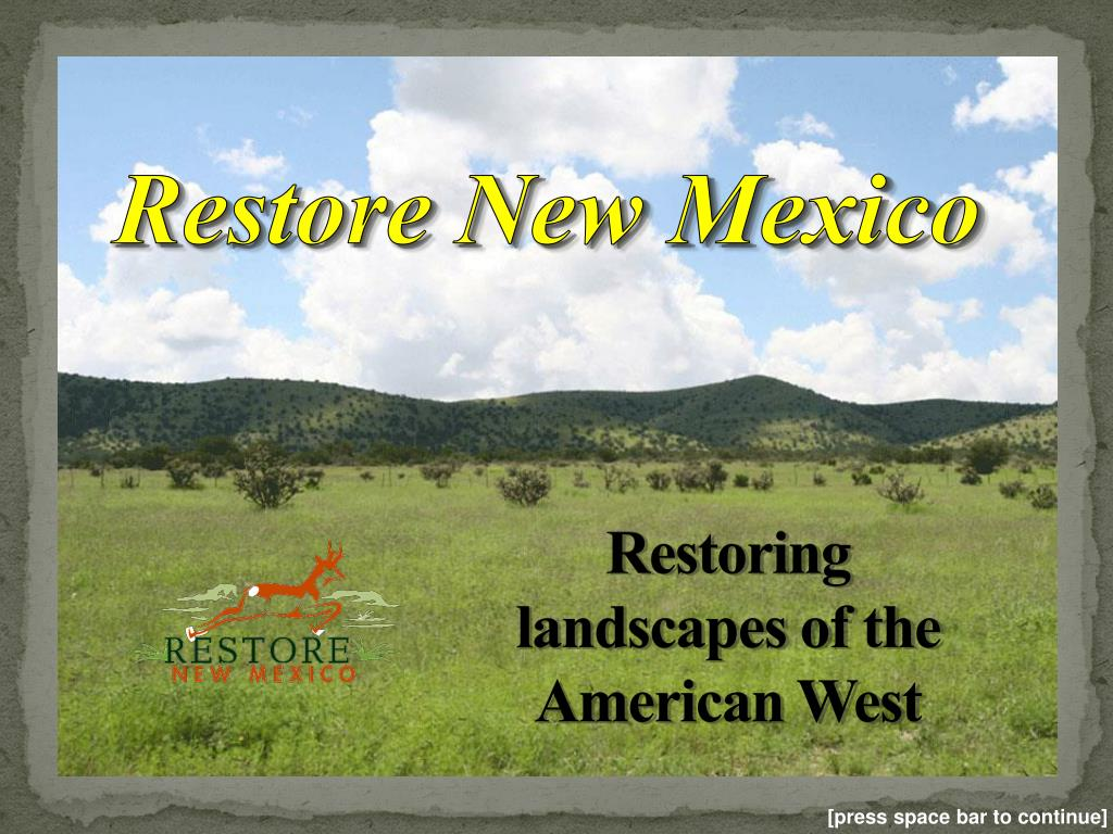 restoring landscapes of the american west l.
