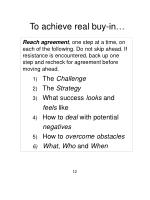 to achieve real buy in