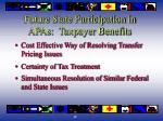 future state participation in apas taxpayer benefits