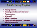 transfer pricing disputes