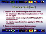 what is an apa cont