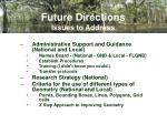 future directions issues to address