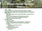 recent florida gazetteer history