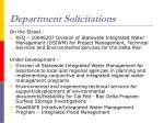 department solicitations