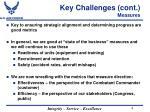 key challenges cont measures