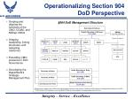 operationalizing section 904 dod perspective