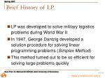 brief history of lp