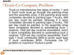 truck co company problem