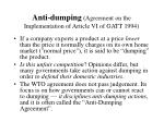 anti dumping agreement on the implementation of article vi of gatt 1994
