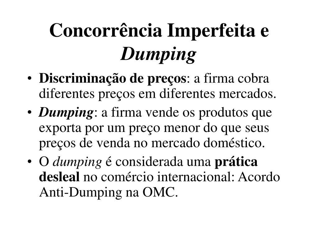 concorr ncia imperfeita e dumping l.