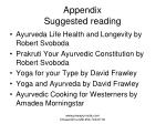 appendix suggested reading71