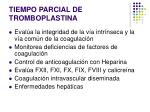 tiempo parcial de tromboplastina