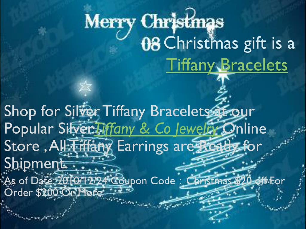 christmas gift is a tiffany bracelets l.