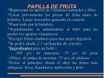 papilla de fruta
