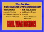 who decides constitutional or unconstitutional