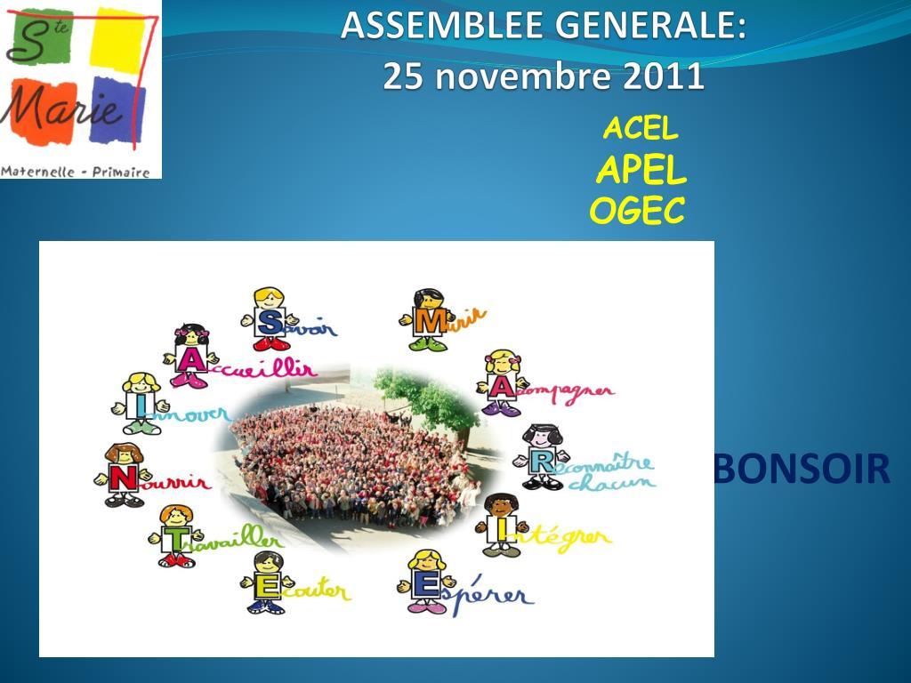 assemblee generale 25 novembre 2011 l.